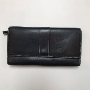 Coach Black Pure Leather Wallet w/ Checkbook!